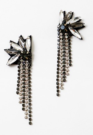 Sequin Crystal Fan Fringe Earring