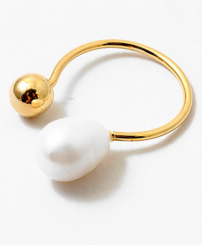 Pearl Geometric Ring