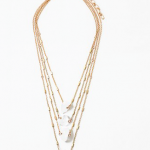 Triple Chain Drop Necklace