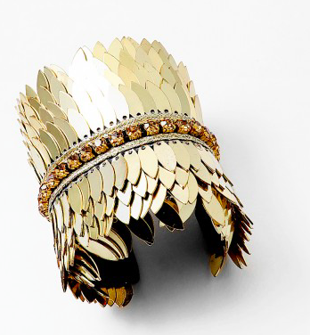 Sequin Metal Gold Cuff