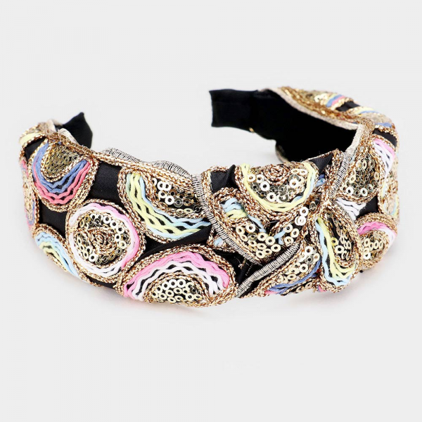 Crotchet Knot Multi Color Headband
