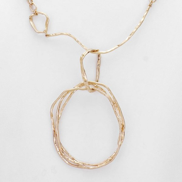 Geometric Metal Abstract Gold Necklace