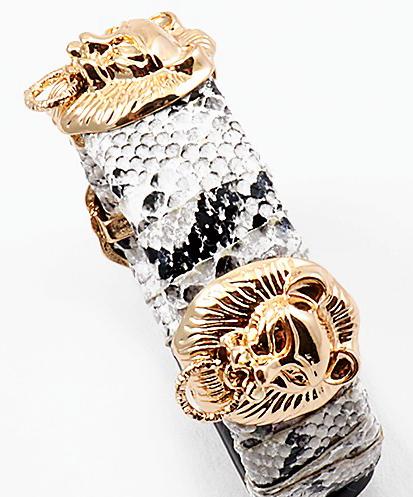 Lions Head Snake Bracelet