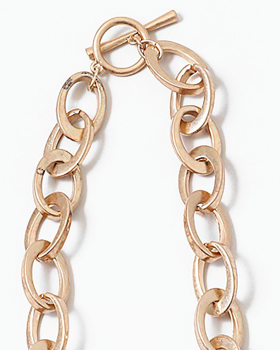 Oval Gold Link Gold Necklace