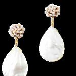 Pastel Stone Encrusted Stud Earrings