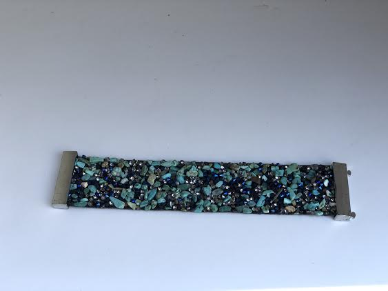 Turquoise Stone Magnetic Cuff Bracelet