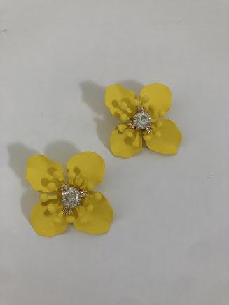 Sunshine Yellow Flower Earrings