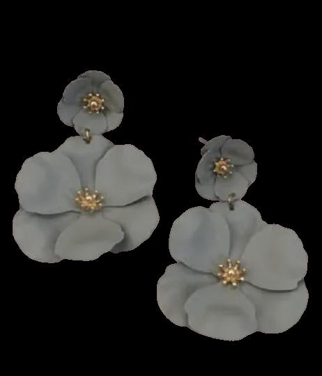 Gray Double Flower Drop